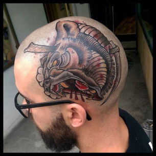Grizzly Bear Head Tattoo