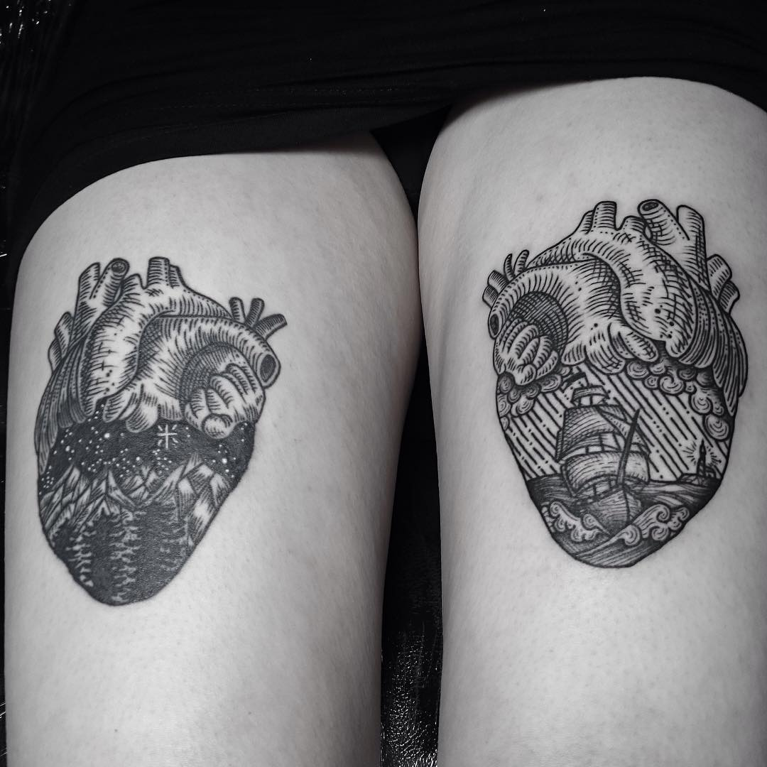 heart thigh tattoos best tattoo ideas gallery. Black Bedroom Furniture Sets. Home Design Ideas