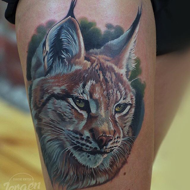 Lynx Tattoo on Shoulder