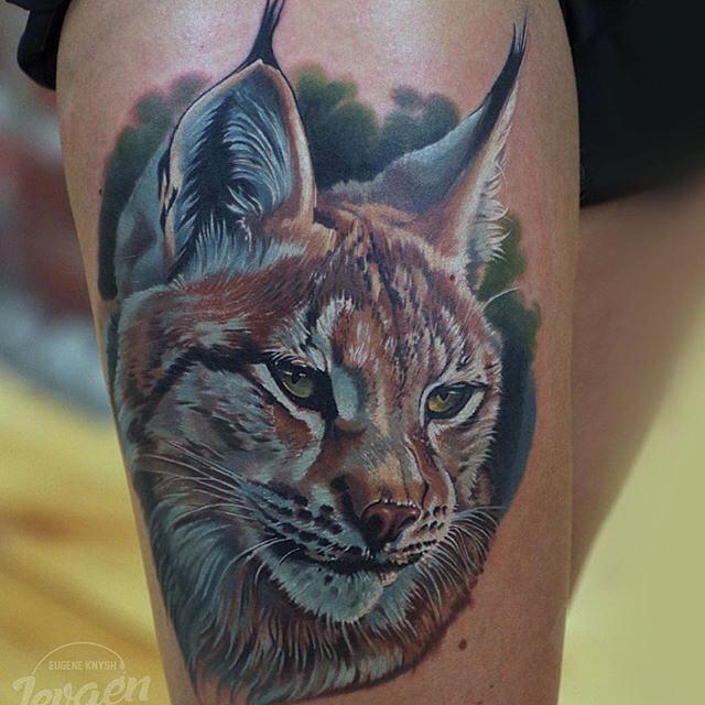 Lynx Tattoo on Shoulder