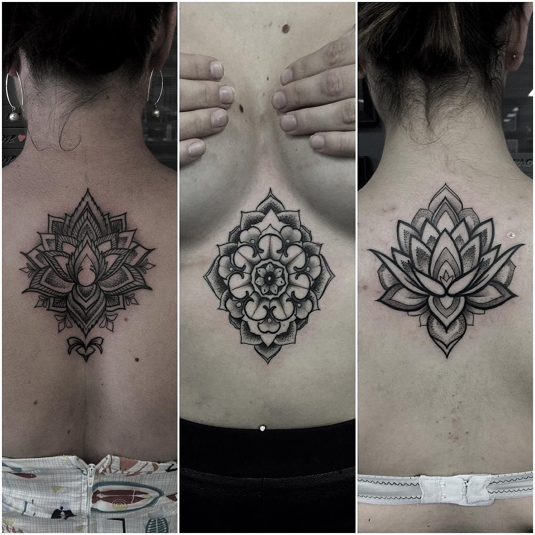 different mandala tattoos by one tattoo artist