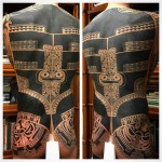 full back maori tattoo pattern