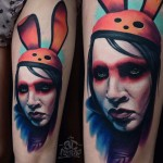 Marilyn Manson Tattoo Portrait