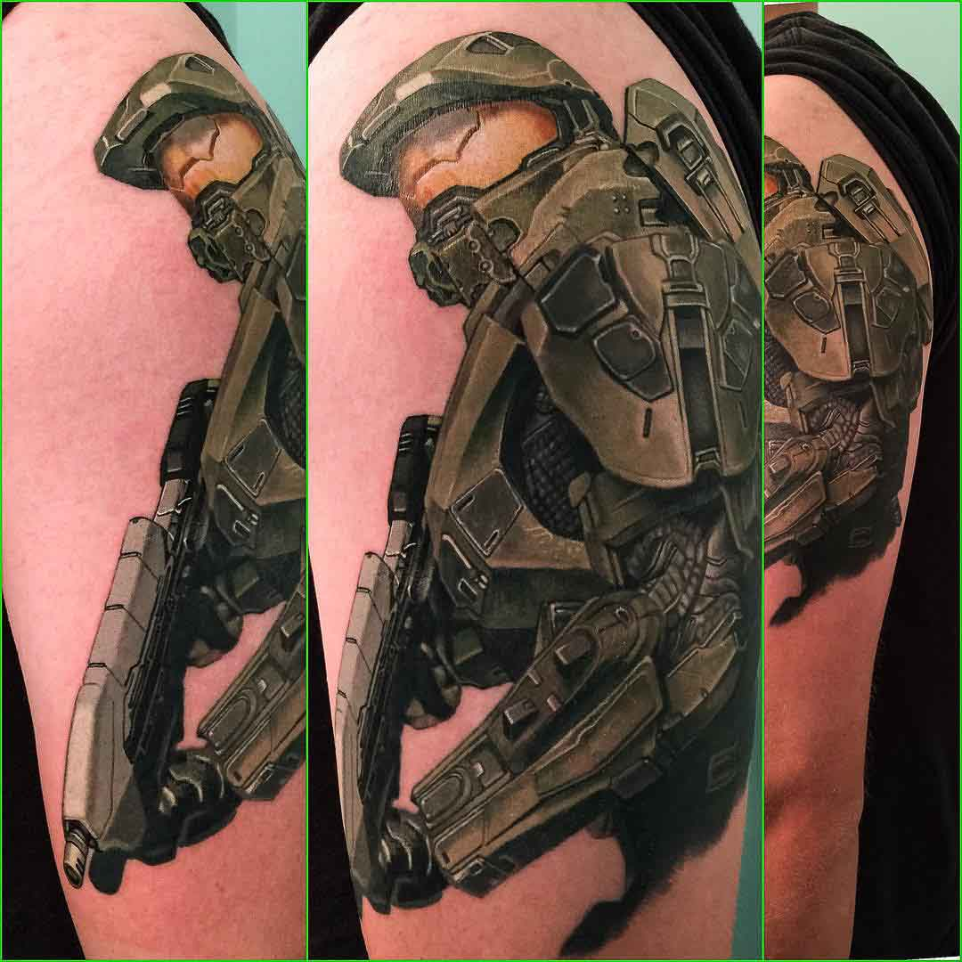 master chief tattoo best tattoo ideas gallery. Black Bedroom Furniture Sets. Home Design Ideas
