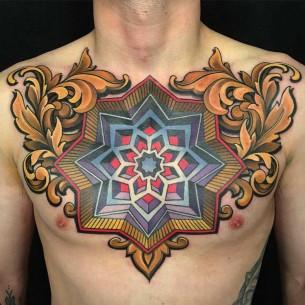 Men Chest Tattoo