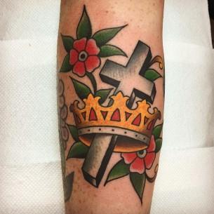 Old School Crown Tattoo