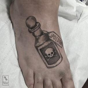 Poison Bottle Tattoo