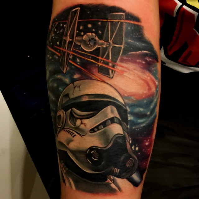stormtrooper in space tattoo
