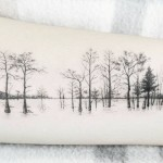 Row of Trees Tattoo