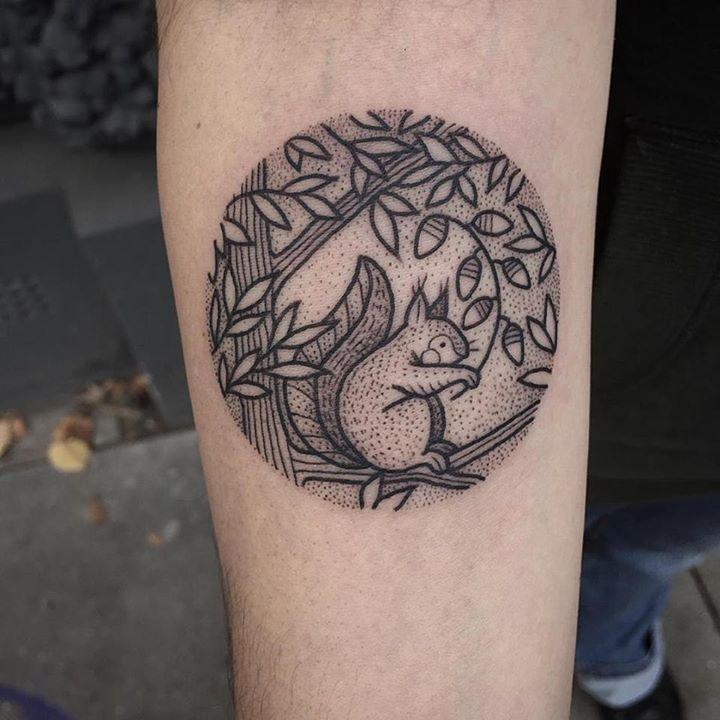 Simple Squirrel Tattoo