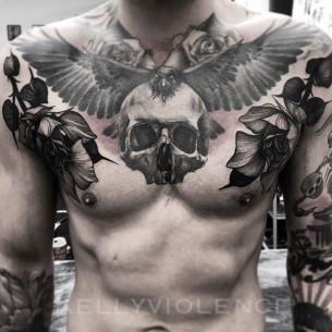 Skull Roses Tattoo