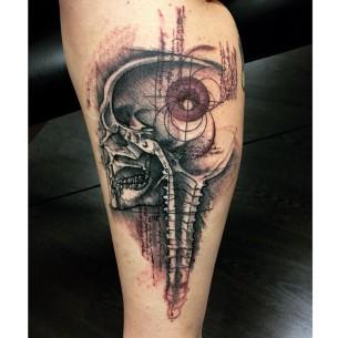 Skull Sketch Tattoo