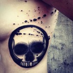 Skull Tattoo Drawing on Ribs