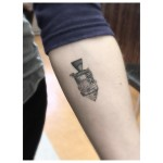 Small Space Capsule Tattoo