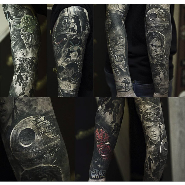 d62e24fdf8 Star Wars Full Sleeve Tattoo | Best Tattoo Ideas Gallery