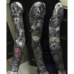 Star Wars Full Sleeve Tattoo