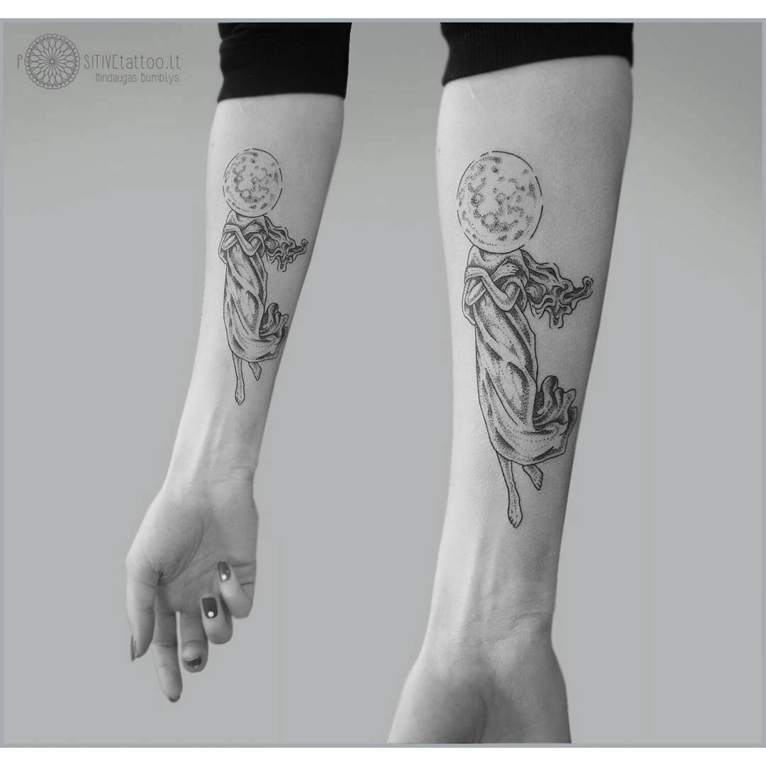 venus tattoo on arm - ancient vision