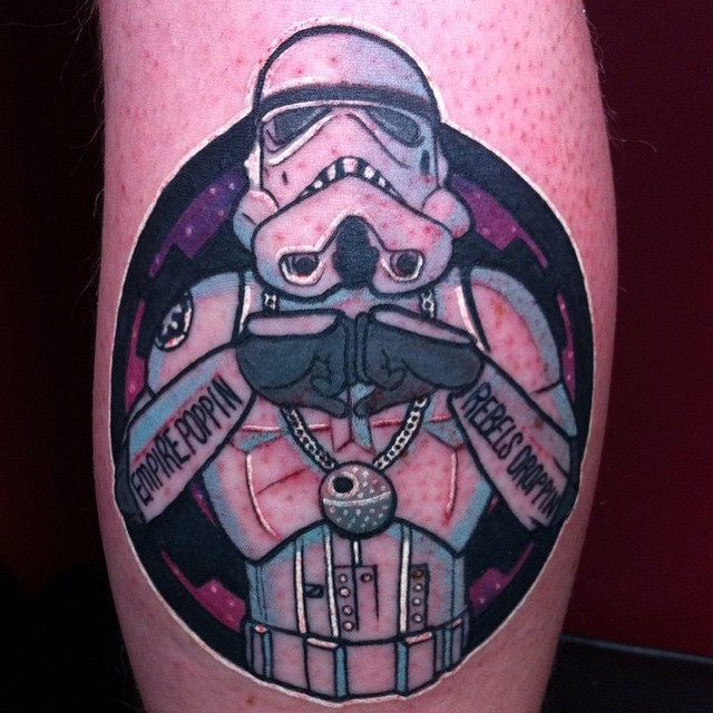 cool tattoo of stormtrooper