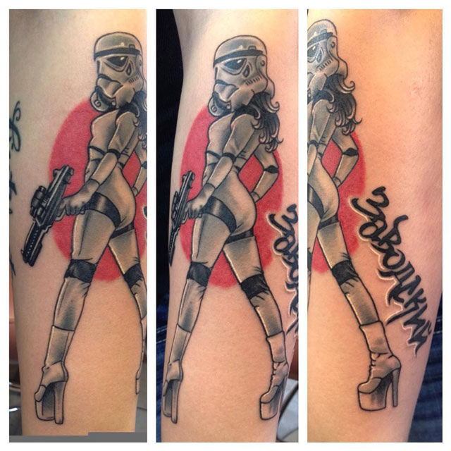 girl stormtrooper tattoo