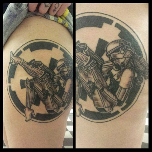 tattoo of graphic stormtrooper girl