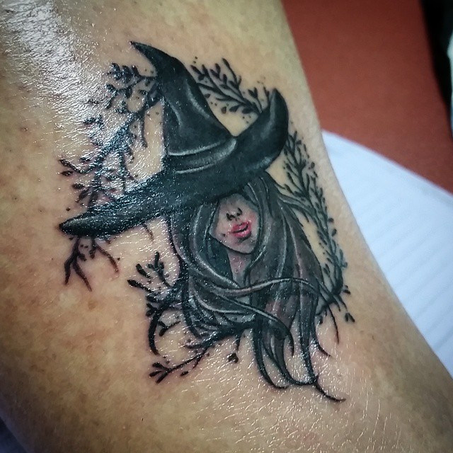 Dark Nature Witch Tattoo