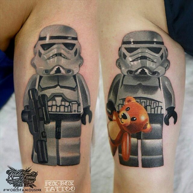 new school lego stormtrooper tattoo