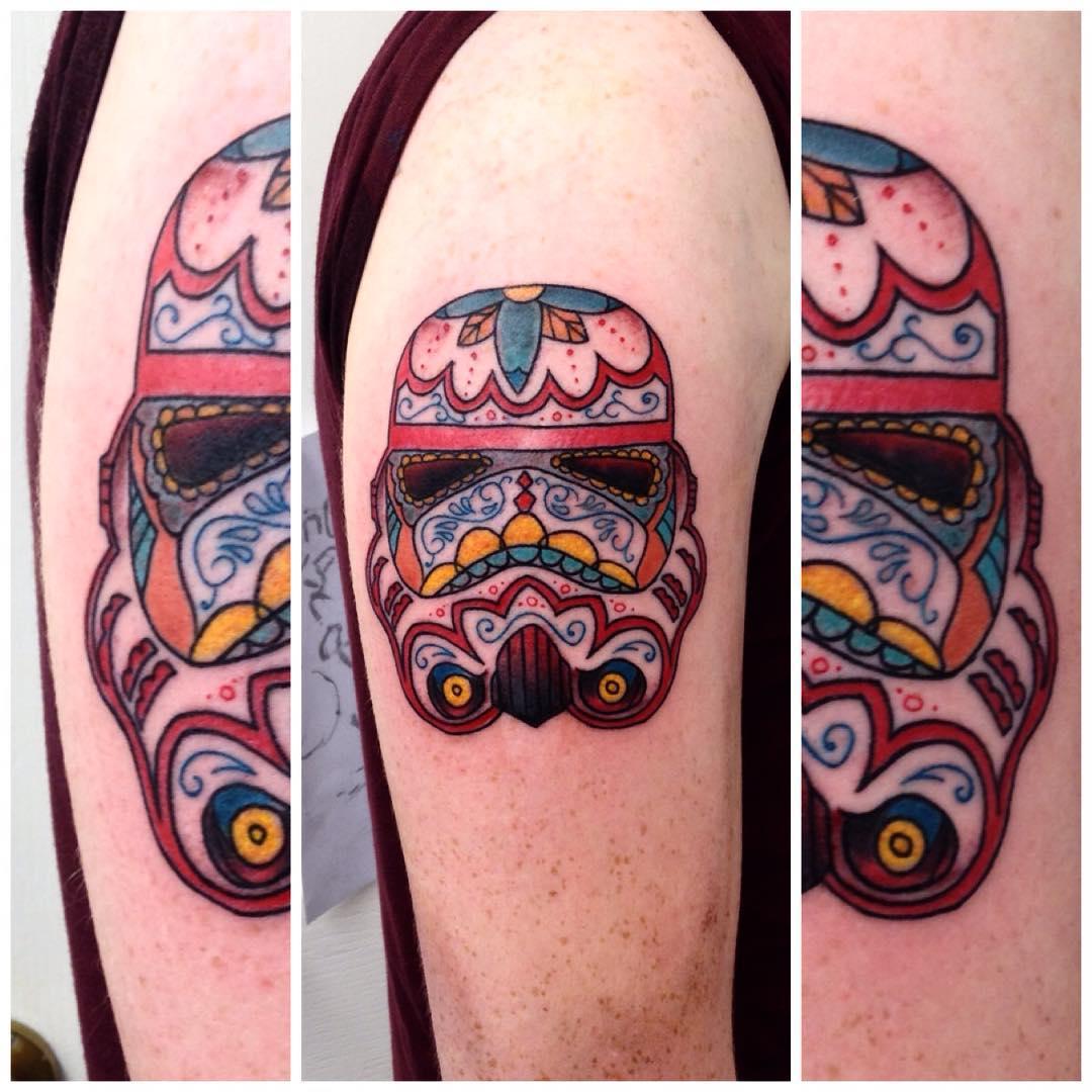 santa muerte stormtrooper tattoo