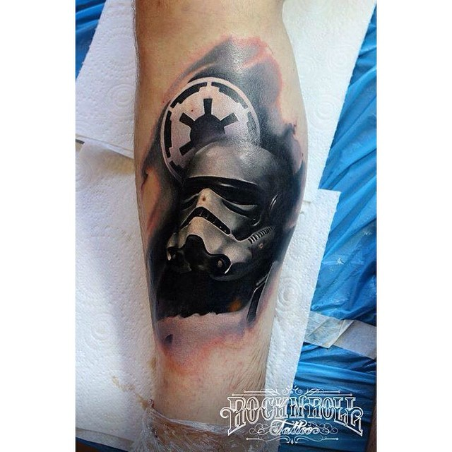 black stormtrooper tattoo