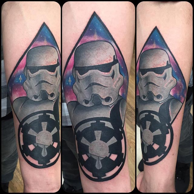 space storm trooper tattoo
