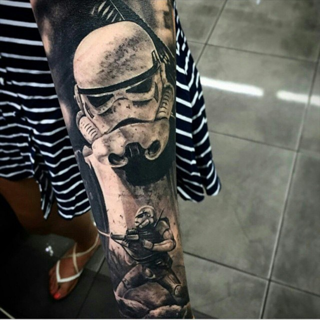 stormtrooper sleeve tattoo