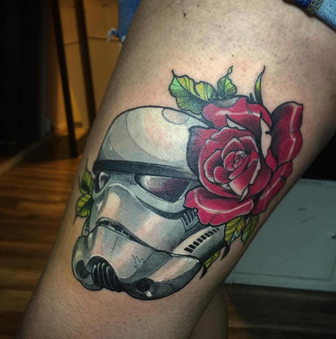 strom trooper and rose tattoo