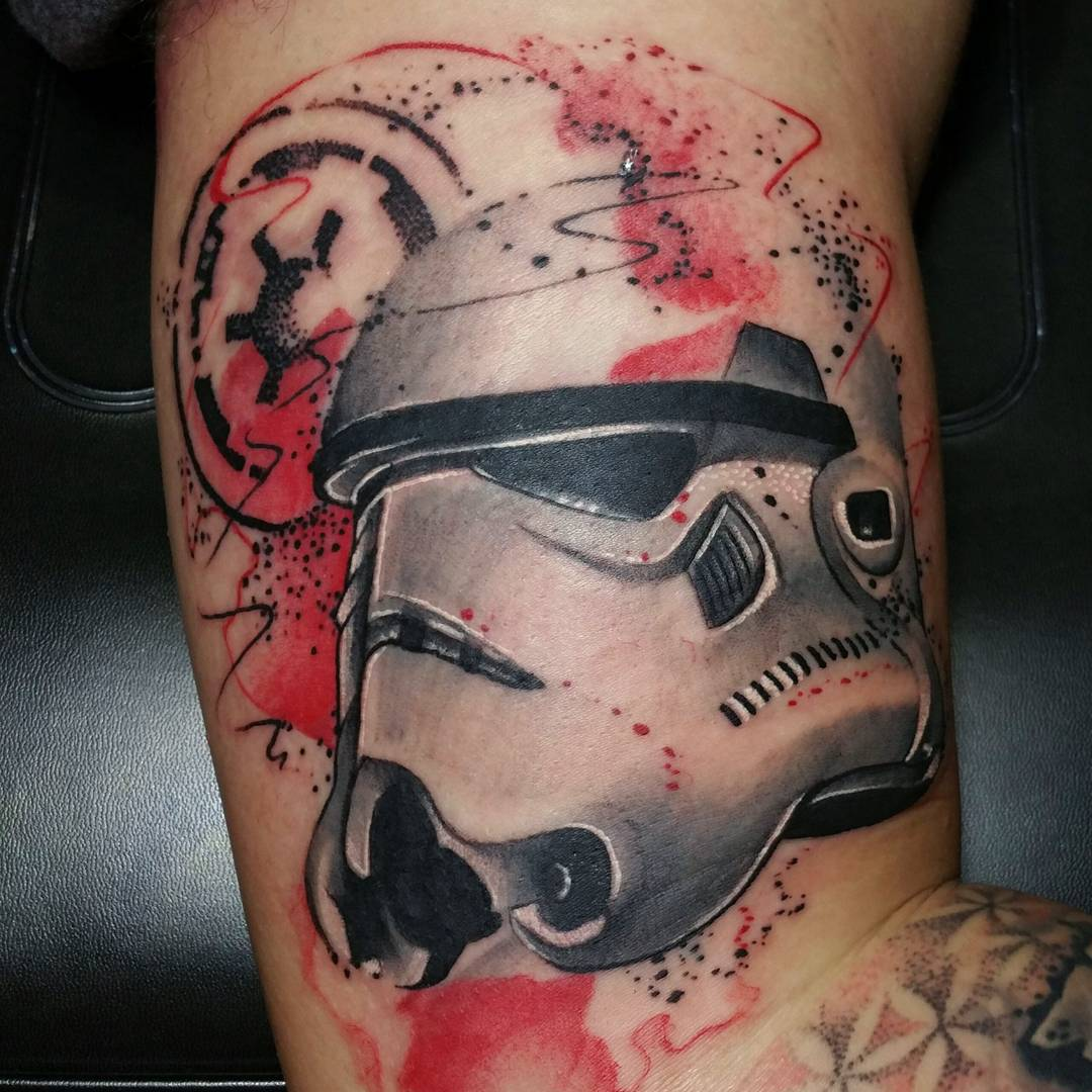 trash polka stormtrooper tattoo