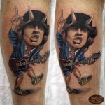 Angus Young Tattoo New School