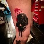 Aquarelle Realistic Vader Tattoo