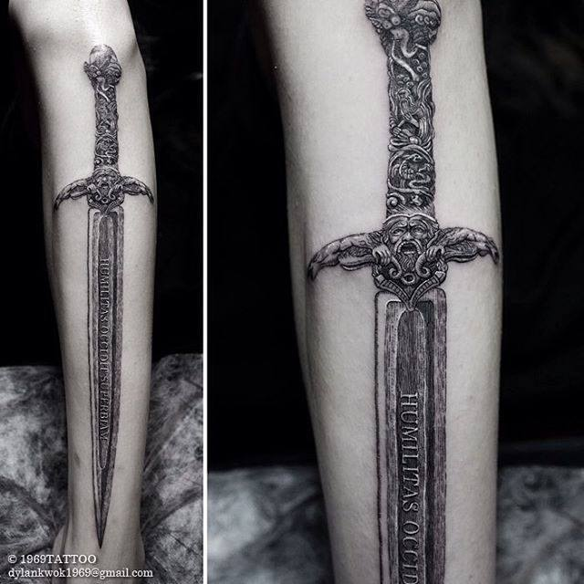 cool sword tattoo