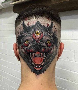 Back Head Tattoo