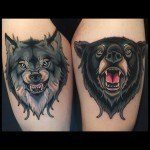 Bear Wolf Tattoo