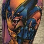 Calf Wolverine Tattoo