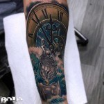 Clock Water Candle Tattoo