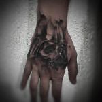 Darth Vader Skull Tattoo on Hand