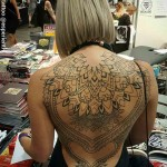Female Back Tattoo