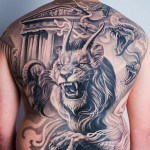 Greek Mythology Tattoo on Back