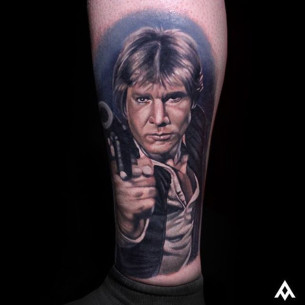 Han Solo Portrait Tattoo
