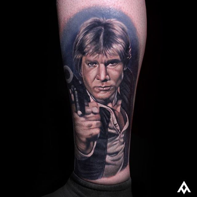 star wars han solo tattoo