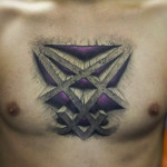 Heartagram Tattoo on Chest