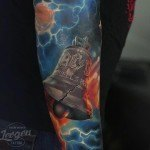Hell's Bell ACDC Tattoo