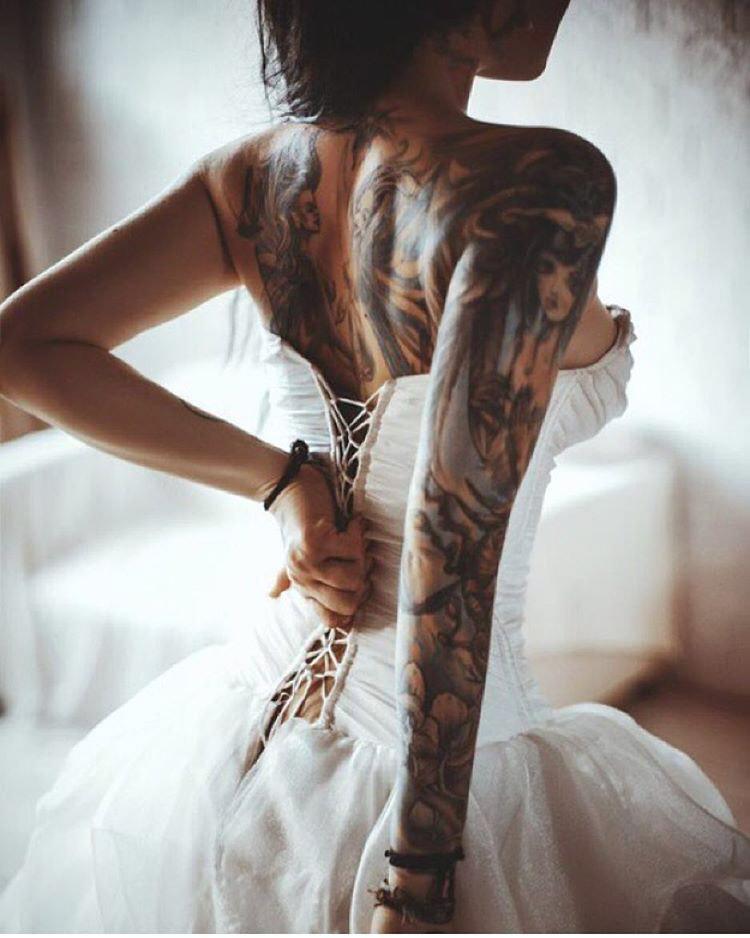 tattoed bride