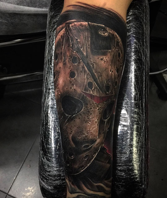realistic jason tattoo