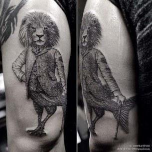 Lion Fish Tattoo