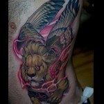 Lion with Wings Tattoo